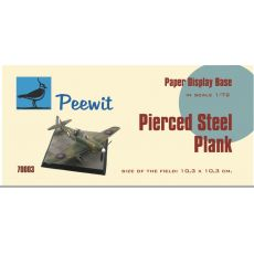 Paper display base 10,3x10,3 cm (Pierced Steel plank, PSP)  M70003