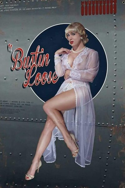 Bustin Loose Uncensored - pin up metal poster metal sign