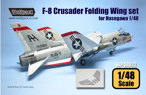 F8U Crusader Folding wing Conversion set (Hasegawa)  WP48021