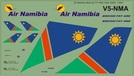 Boeing 747-400 (Air Namibia, year 2000)  MAV200008