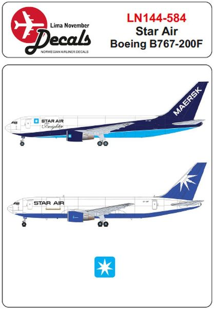Boeing B767-200F (Star Air old and new scheme)  LN144-584
