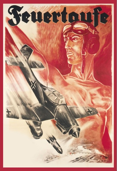Wehrmacht Feuertaufe Flugzeug metal poster metal sign  FA1203