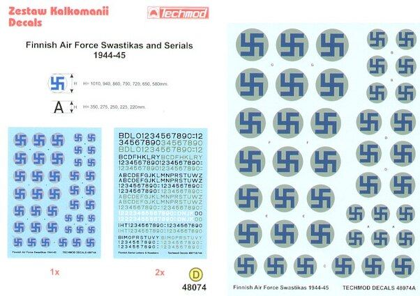 Finnish Air Force Swasticas and Serials 1944-1945  32023