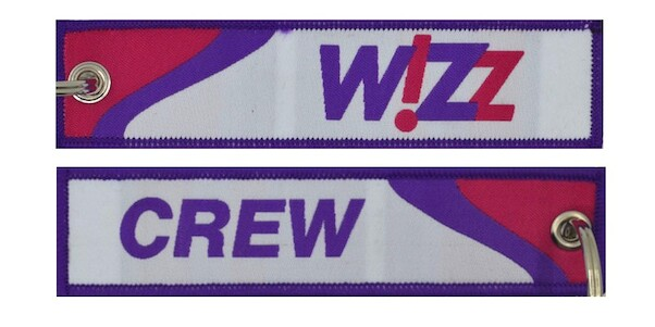 Keyholder with Wizz on one side and (WizzAir) crew on other side  KEY-CREW-WIZZ