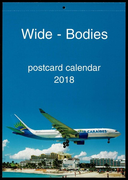 Wide-Bodies postcard calendar 2018  JJ-2018