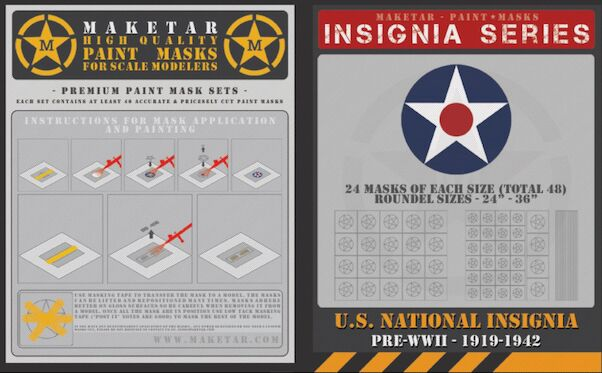 US Roundels Pre WWII 1919-1942  (48 Roundels)  MM32013