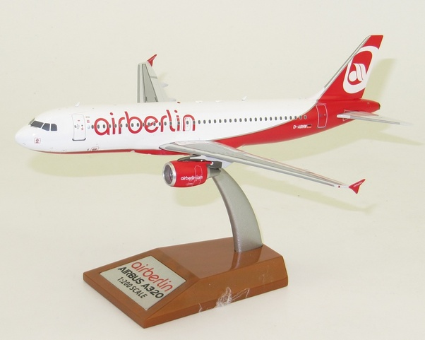 A320 (Air Berlin) D-ABNW With Stand ; Last Air Berlin Flight  IF320AB001