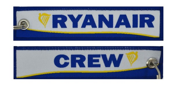 Keyholder with Ryanair on one side and (Ryanair) crew on other side  KEY-CREW-RYANAIR