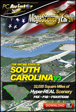 Mega Scenery Earth Version 3, South Carolina V3 (Download version)  DL-MSEV3-SC