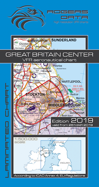 VFR aeronautical chart Great Britain Center 2019  ROGERS-GB-C