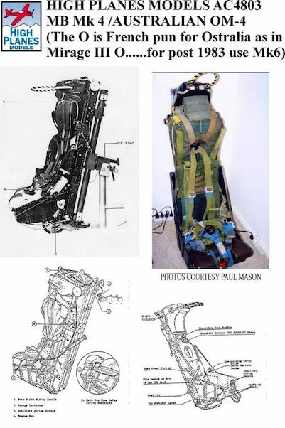 Martin Baker MK4 Ejection Seat (Mirage IIIO pre lotex upgrade)  HPA048003
