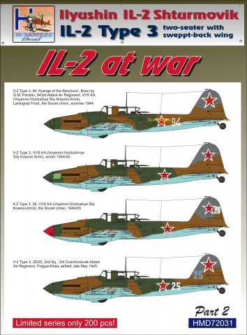 Ilyushin IL2 At war Part 2 (2 seater with swept back wing)  HMD72031