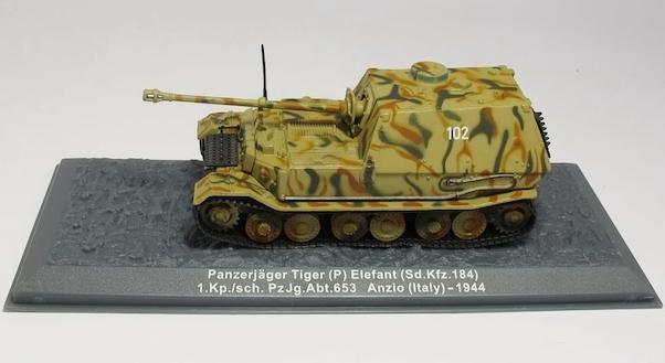 """DIE CAST PANZERJAGER TIGER P ELEFANT SD.KFZ.184 ANZIO 1944/"""" SCALA 1//72"""
