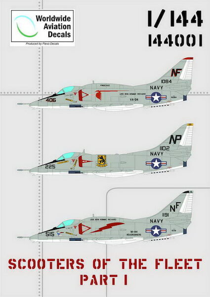 Scooters of the Fleet part 1 (A4 Skyhawk) (Worldwide Aviation Decals  WAD144001)
