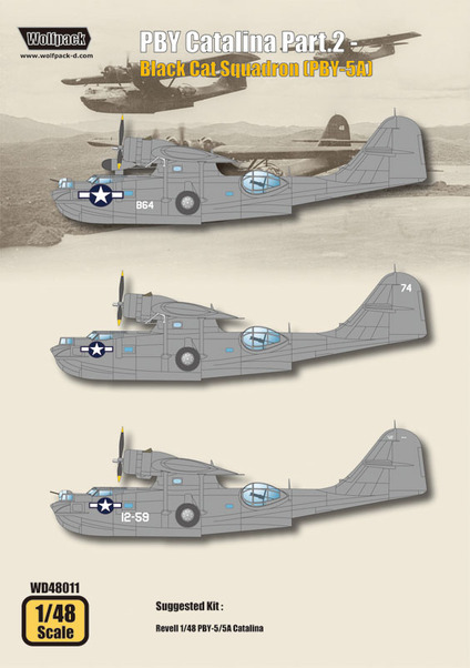 PBY Catalina Part 2 (Black cat Squadrons PBY5A)  WD48011