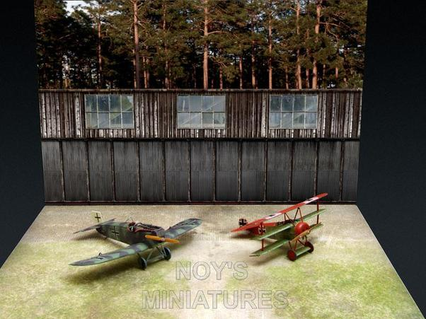 WWI Airfield Set with Bonus Backdrop  7212
