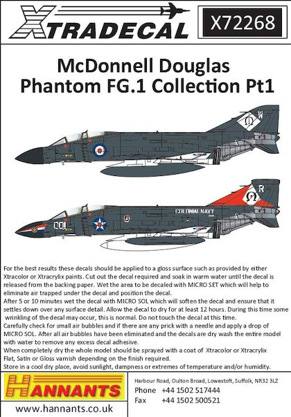 McDonnell Douglas Phantom FG.1 Collection Part 1  X72268