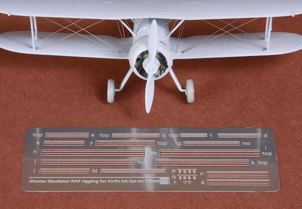 Gloster Gladiator  rigging wire set (stainless steel PE)  SBS72046