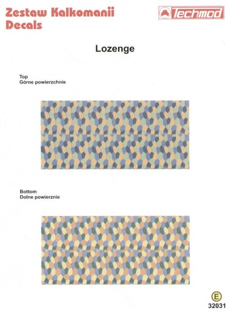 Lozenge (4 colours Upper and Lower)  32031