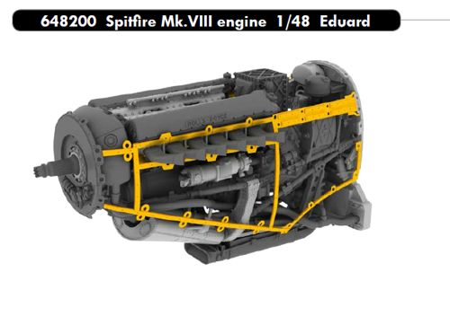 Spitfire MKVIII Engine set (Eduard)  E648200