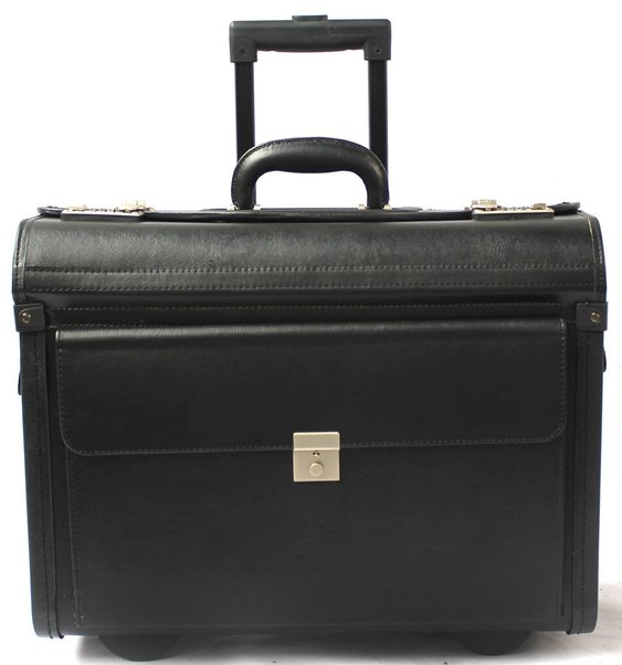 Vinyl Wheeled Laptop Pilot Case (804AC) (black)   804AC