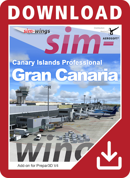Sim-wings - Canary Islands Professional - Gran Canaria (download version)  14650