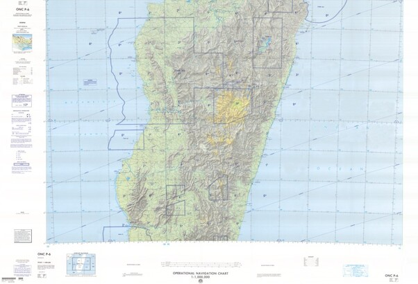 ONC P-6: Available: Operational Navigation Chart for Madagascar.  Available ! additional charts available within five working days. E-mail your requirements.  ONC P-6