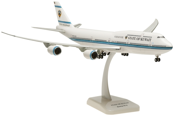 Boeing 747-8 State of Kuwait 9K-GAA with stand and gears  HG0021