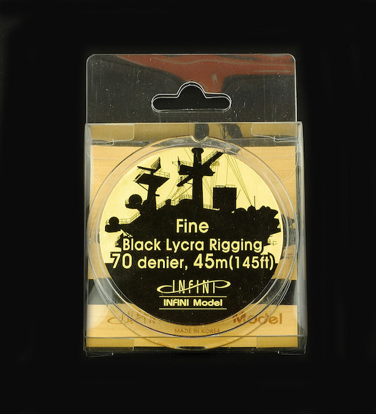 Fine 1/350 Black Rigging wire;  0,091mm, 45m  IR0701B