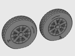 F4U Corsair / F6F Hellcat Block thread Wheel set  AS48068