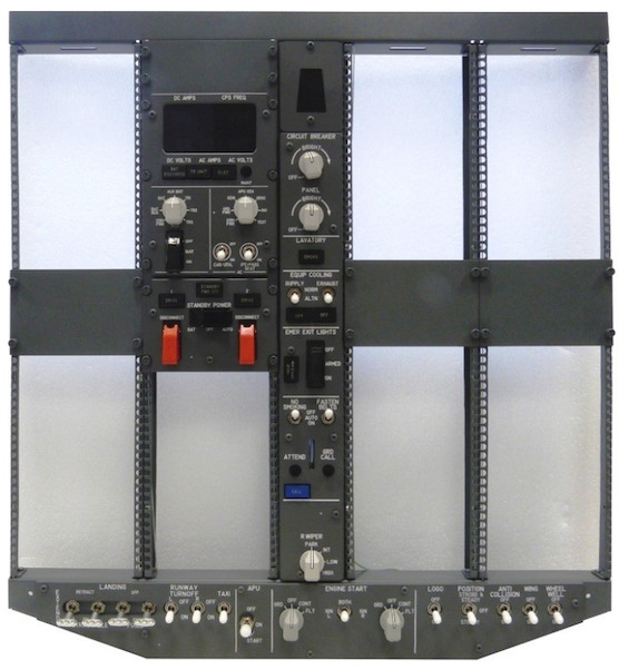 B737 ICS FWD Overhead Panel Kit (Frame, Electrical, Light and Bright Panel)  OVH737NG_FWD_ST