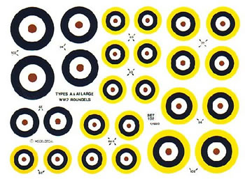 British Roundels 1938-1947 Large type A & A1  SETNO102
