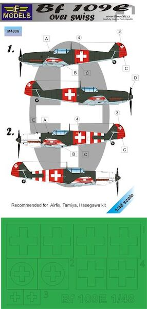 Messerschmitt BF109E Over Swiss Mask  LFM4806