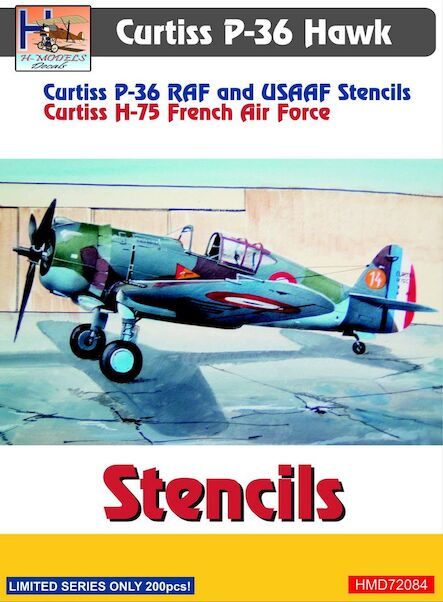 Curtiss P36 Hawk stencils  HMD72084