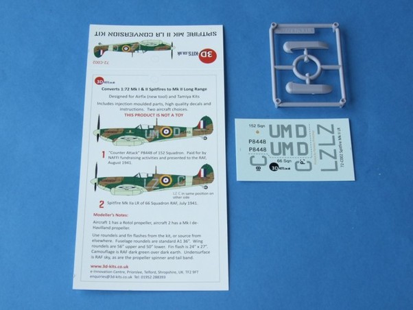 Spitfire MKI/II LR Conversion Kit with Decals  72-C002