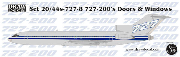 Boeing 727-200 doors and windows  10-727-8