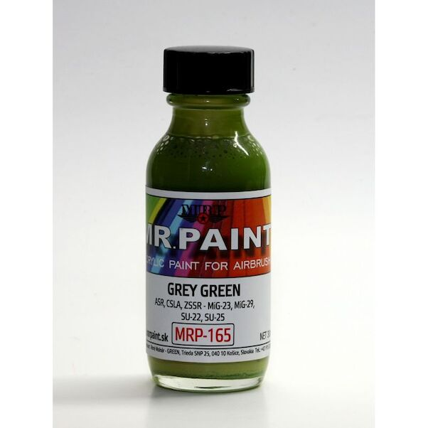Grey Green WarPac 5 tone camo (MiG23, MIG29, Su22, Su25  (30ml Bottle)  MRP-165