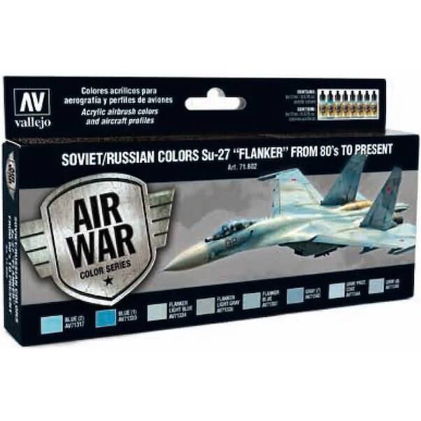 Vallejo Model Color Air Acrylic paint set Soviet/Russian Colours Sukhoi Su27