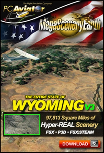 Mega Scenery Earth Version 3, Wyoming (Download version)  DL-MSEV3-WY