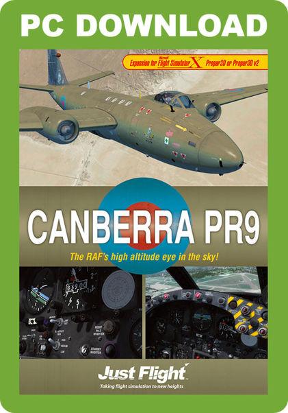 Canberra PR9 (download version FSX, P3D) (Just Flight J3F000129-D)