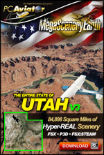 Mega Scenery Earth Version 3, Utah (Download version)  DL-MSEV3-UT
