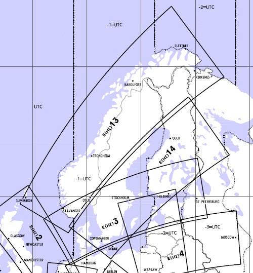 High Altitude Enroute Chart Europe HI 13/14: Scandinavia  ZEUH1341
