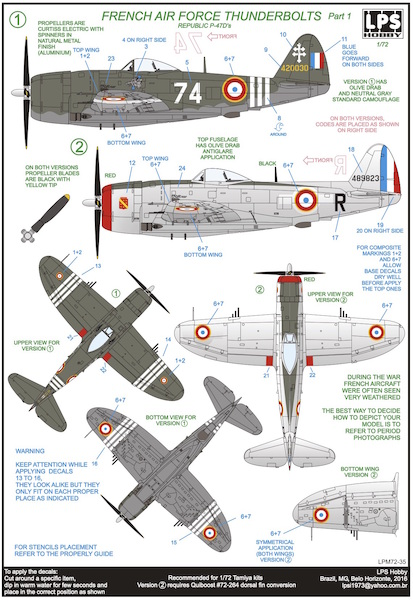 Republic P47 Thunderbolt (French Air Force Part 1)  LPM72-35