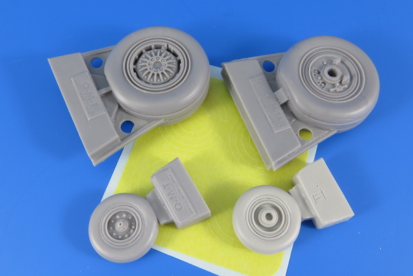 LATE Weighted Wheels for F4E/F/G, RF4C/E Phantom (Revell)  QMT-R32004M