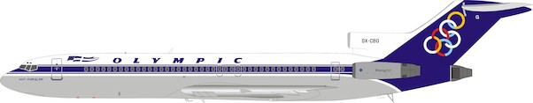 Boeing 727-230/Adv Olympic SX-CBG plus stand  IF722OA0720