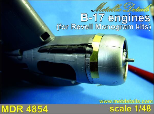 B17 Flying Fortress Engines (Revell/Monogram)  MDR4854