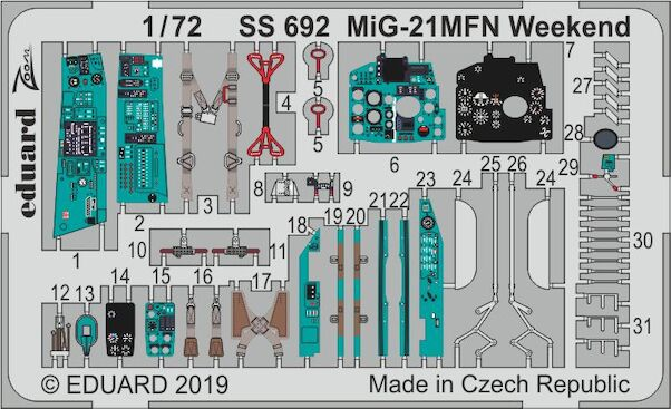 Detailset Mikoyan Mig21MFN Fishbed 'Weekend