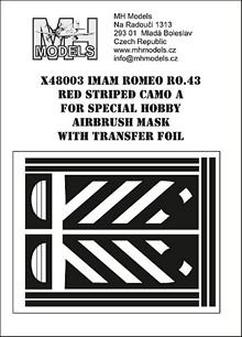 IMAM Romeo Ro43 Red Striped camouflage A airbrush mask (Special Hobby)  X48003
