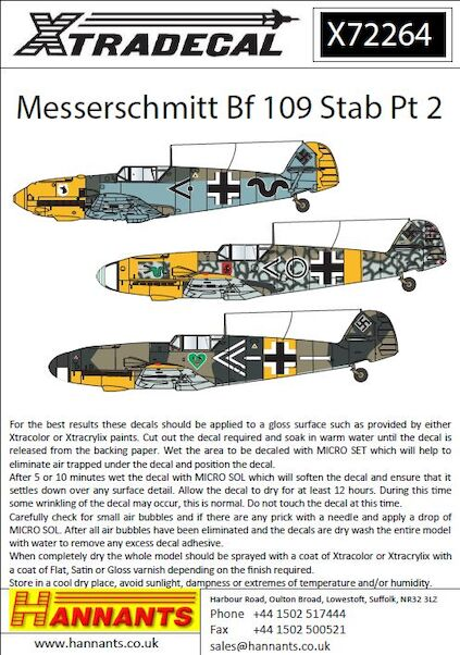 Messerschmitt Bf-109s with Stab markings Pt 2  X72264