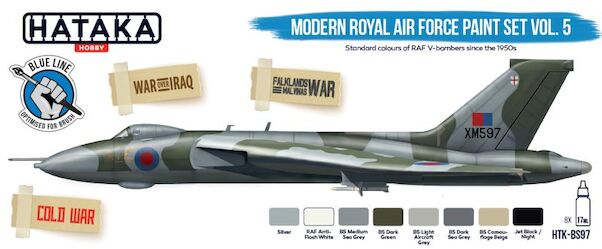 Modern Royal Air Force Paint set Vol 5 (8 colours)  Optimised for Brushpainting  HTK-BS97